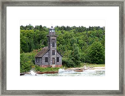 Grand Island East Channel Lighthouse #6680 Framed Print