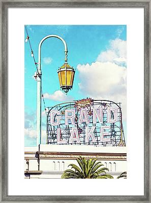 Grand Lake Merritt - Oakland, California Framed Print