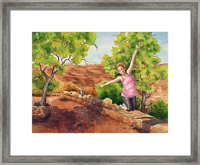 Grand Leap Framed Print