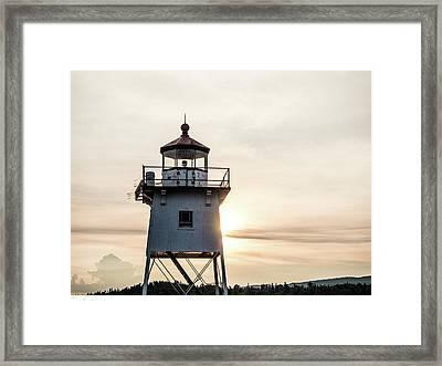 Grand Marais Lighthouse Framed Print