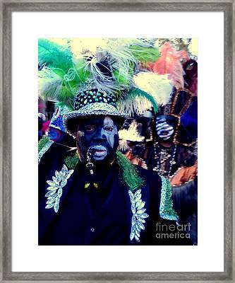 Grand Marshall Of The Zulu Parade Mardi Gras 2016 In New Orleans Framed Print