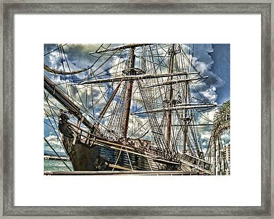 Framed Print featuring the photograph Grand Old Sailing Ship by Roberta Byram