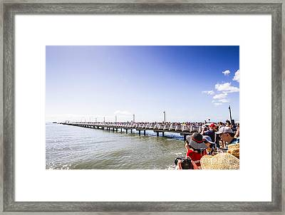Grand Opening Event. Shorncliffe Pier 2016 Framed Print