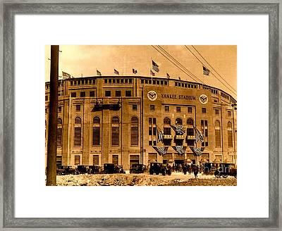 Grand Opening Of Old Yankee Stadium April 18 1923 Framed Print