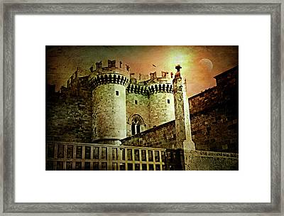 Grand Palace Of The Knights Of Rhodes Framed Print