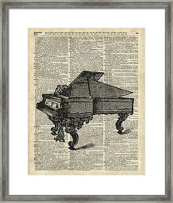 Grand Piano Framed Print by Jacob Kuch