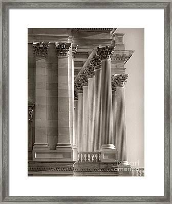 Grand Pillars At Dawn Framed Print by Jennifer Apffel