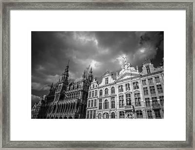 Grand Place Mono 1 Framed Print