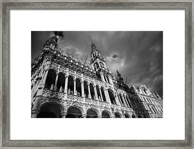 Grand Place Mono 2 Framed Print by Chris Fletcher