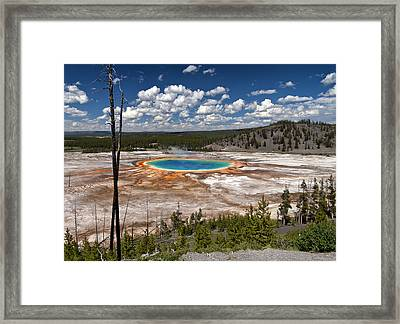 Framed Print featuring the photograph Grand Prismatic by John Gilbert