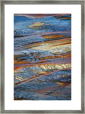 Grand Prismatic Runoff Framed Print
