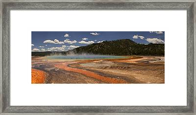Grand Prismatic Spring Framed Print by Andrew Soundarajan