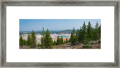 Grand Prismatic Spring Panorama Framed Print