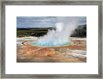 Grand Prismatic Springs In Yellowstone National Park Framed Print