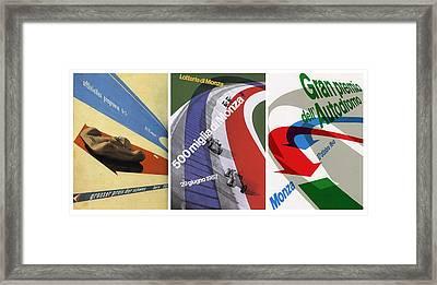 Grand Prix Trio - Le Mans - Monza Framed Print