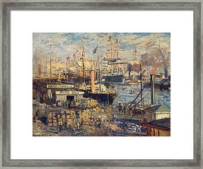 Grand Quai At Havre, 1872 Framed Print by Claude Monet