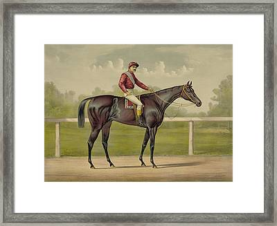 Grand Racer Kingston - Vintage Horse Racing Framed Print by War Is Hell Store