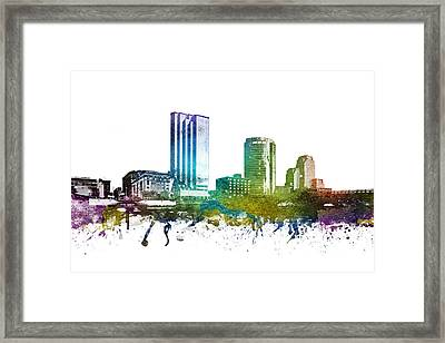 Grand Rapids Cityscape 01 Framed Print by Aged Pixel