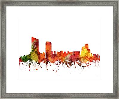 Grand Rapids Cityscape 04 Framed Print by Aged Pixel