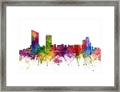 Grand Rapids Cityscape 06 Framed Print by Aged Pixel