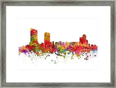 Grand Rapids Cityscape 08 Framed Print by Aged Pixel
