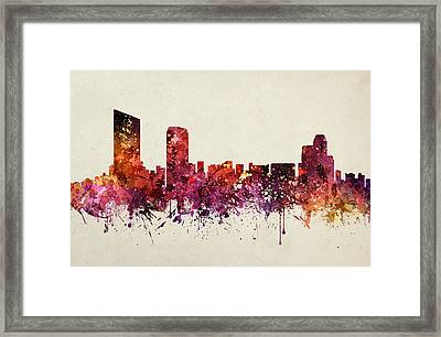 Grand Rapids Cityscape 09 Framed Print by Aged Pixel