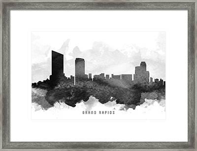 Grand Rapids Cityscape 11 Framed Print