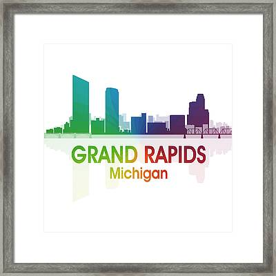 Grand Rapids Mi 1 Squared Framed Print