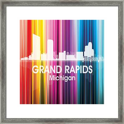 Grand Rapids Mi 2 Squared Framed Print
