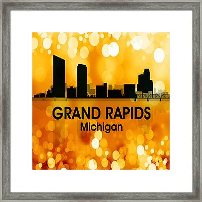 Grand Rapids Mi 3 Squared Framed Print