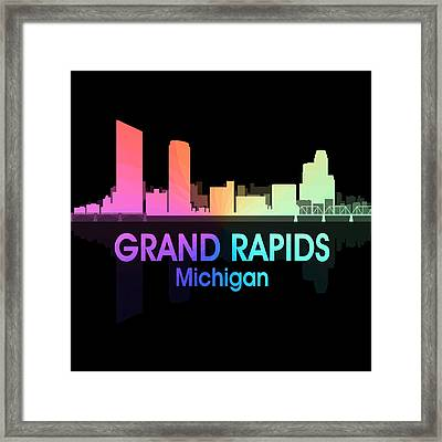 Grand Rapids Mi 5 Squared Framed Print
