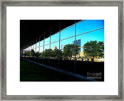 Grand Rapids Mi On Glass-12 Framed Print by Robert Pearson