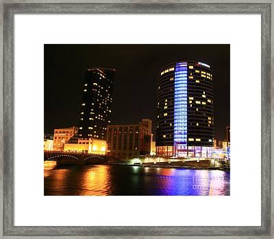 Grand Rapids Mi Under The Lights-4 Framed Print by Robert Pearson