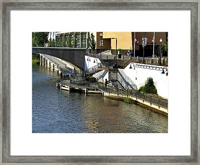 Grand River Boardwalk Framed Print