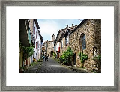 Grand Rue De L'horlogue In Cordes Sur Ciel Framed Print by RicardMN Photography