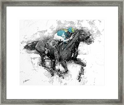 American Pharoah Grand Slam 15 Framed Print