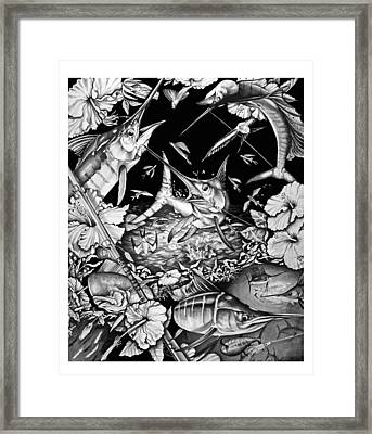 Grand Slam Collage Framed Print by Jacqueline Endlich