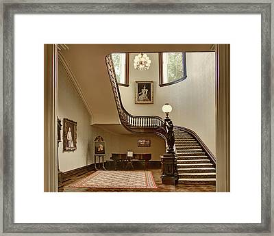 Grand Stairway - Governor's Mansion - Missouri Framed Print by Nikolyn McDonald