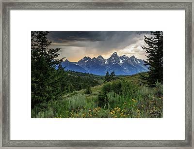 Grand Stormy Sunset Framed Print