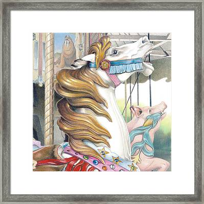 Grand Strand Stallion Framed Print by Todd Baxter