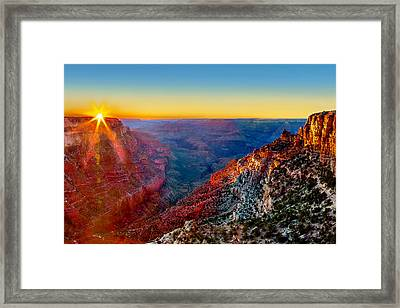 Grand Sunset Framed Print