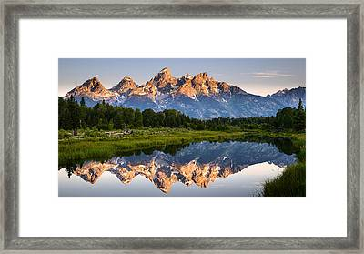 Grand Teton Awakening Framed Print by Dan Mihai