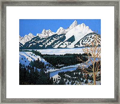 Grand Teton Framed Print by Frederic Kohli