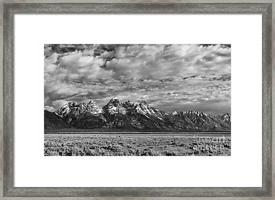 Grand Teton Majesty Framed Print by Sandra Bronstein