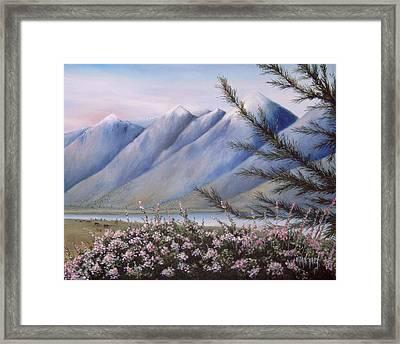 Grand Teton Mountains Framed Print by Allan Carey