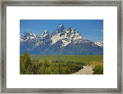 Grand Teton National Park And Snake River Framed Print