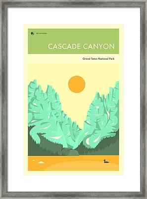 Grand Teton National Park Poster Framed Print