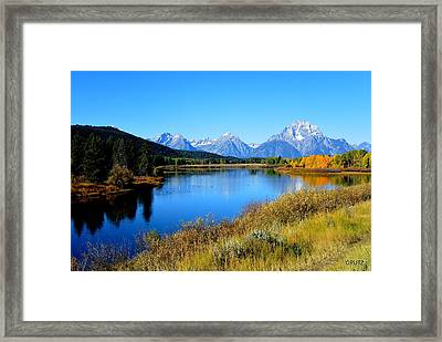 Grand Tetons 1 Framed Print by Carrie Putz