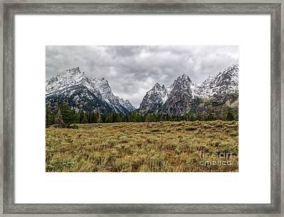 Grand Tetons  8b7692h Framed Print