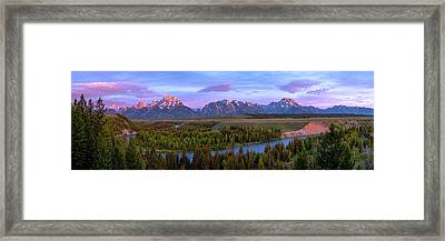 Grand Tetons Framed Print by Chad Dutson